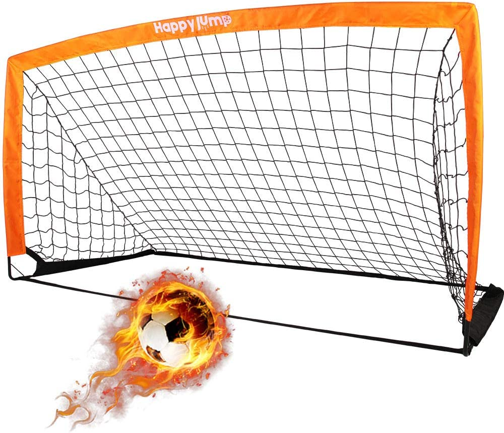 "Happy Jump Soccer Goal Soccer Net for Kids Backyard 6'6""x 3'3"""