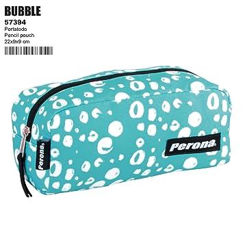 Bubble Turquoise Estuche portatodo escolar: Amazon.es ...