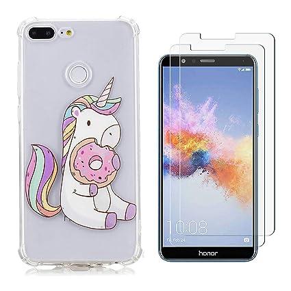 Huawei Honor 9 Lite Funda Pastel de unicornio Soft ...
