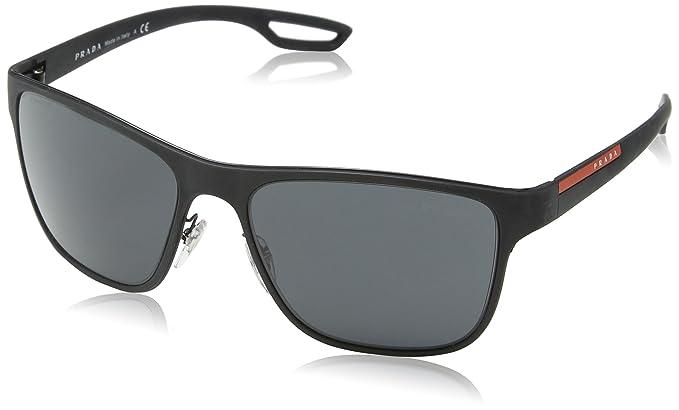 ae63e788e0b4 PRADA SPORT Men's 56QS 0Ps56Qs Dg01A1 56 Sunglasses Black Rubber/Grey