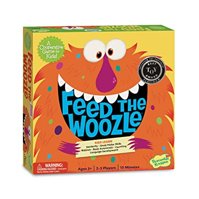 Peaceable Kingdom Feed The Woozle Preschool Skills Builder Game: Toys & Games