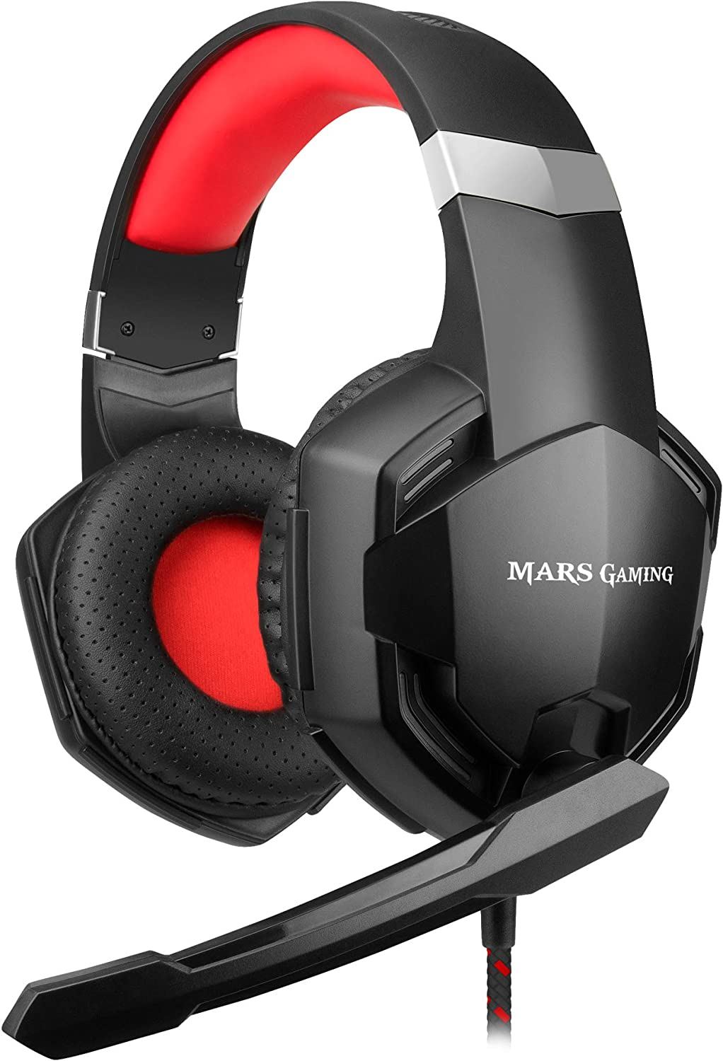 Mars gaming MHX, Auriculares Superbass 50 mm, Micrófono, PC/ PS4/ Xbox/ Switch