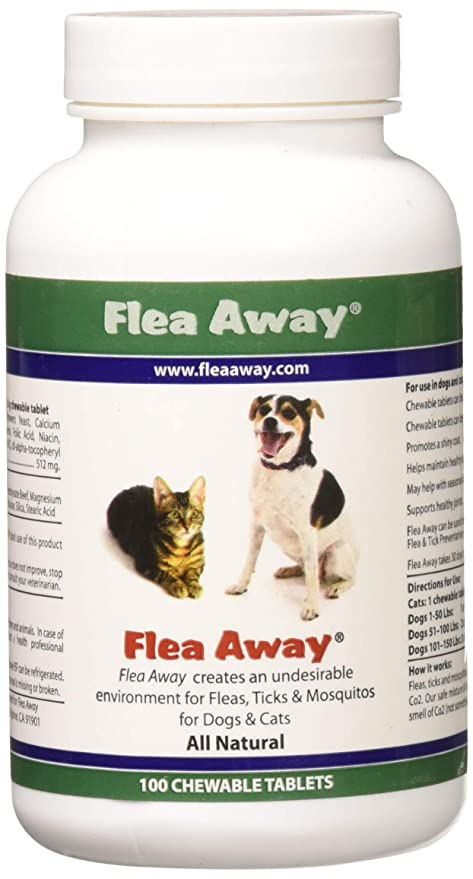 Flea Away All Natural Flea, Tick, Mosquito Repellent for Dogs & Cats, 100