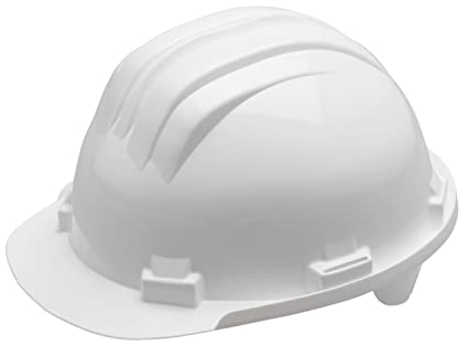 Meister 4164100 - Casco de seguridad, color blanco