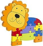 Orange Tree Toys Animal Number Puzzles - Lion