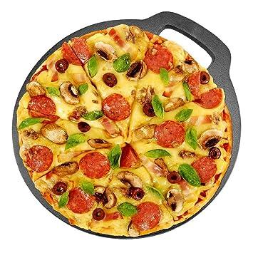 Piedra para Pizza Horno Antiadherente 27 x 29,5cm Plato de Hierro ...