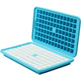 HOMKOM - 91 Cavity / Square Silicone Mini Ice Cube Tray Ice Mold Ice Maker - Freezer Safe / Make Amazing 0.5 Inches Square Ice Cubes (306C)