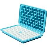 HOMKOM - 91 Cavity / Square Silicone Mini Ice Cube Tray Ice Mold Ice Maker - Freezer Safe / Make Amazing 0.5 Inches Square Ice Cubes (306C)