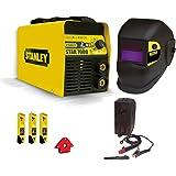 Saldatrice inverter Stanley 7000 200A con maschera autoscurante kit elettrodi magnete