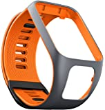 TomTom Spark GPS Fitness Watch Accessory Strap (Grey/Orange, Large)