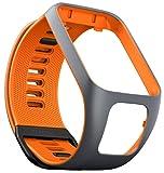 TomTom Cinturino Compatibile con Runner3/Spark3, Grigio/Arancione, Large