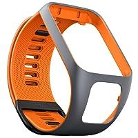 TomTom watch strap for Runner 3, Spark 3, Runner 2, Spark, Golfer 2 Grey/Orange, Large