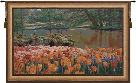 Amazon Com Charlotte Home Furnishings Inc Keukenhof I Belgian Medium Tapestry Wall Hanging Viscose Cotton And Polyester Blend Wall Art 97 In X 62 In Home Decor Accents Everything Else