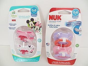 Amazon.com: NUK Chupetes ortodónticos 0 – 6 Mo Girl ...