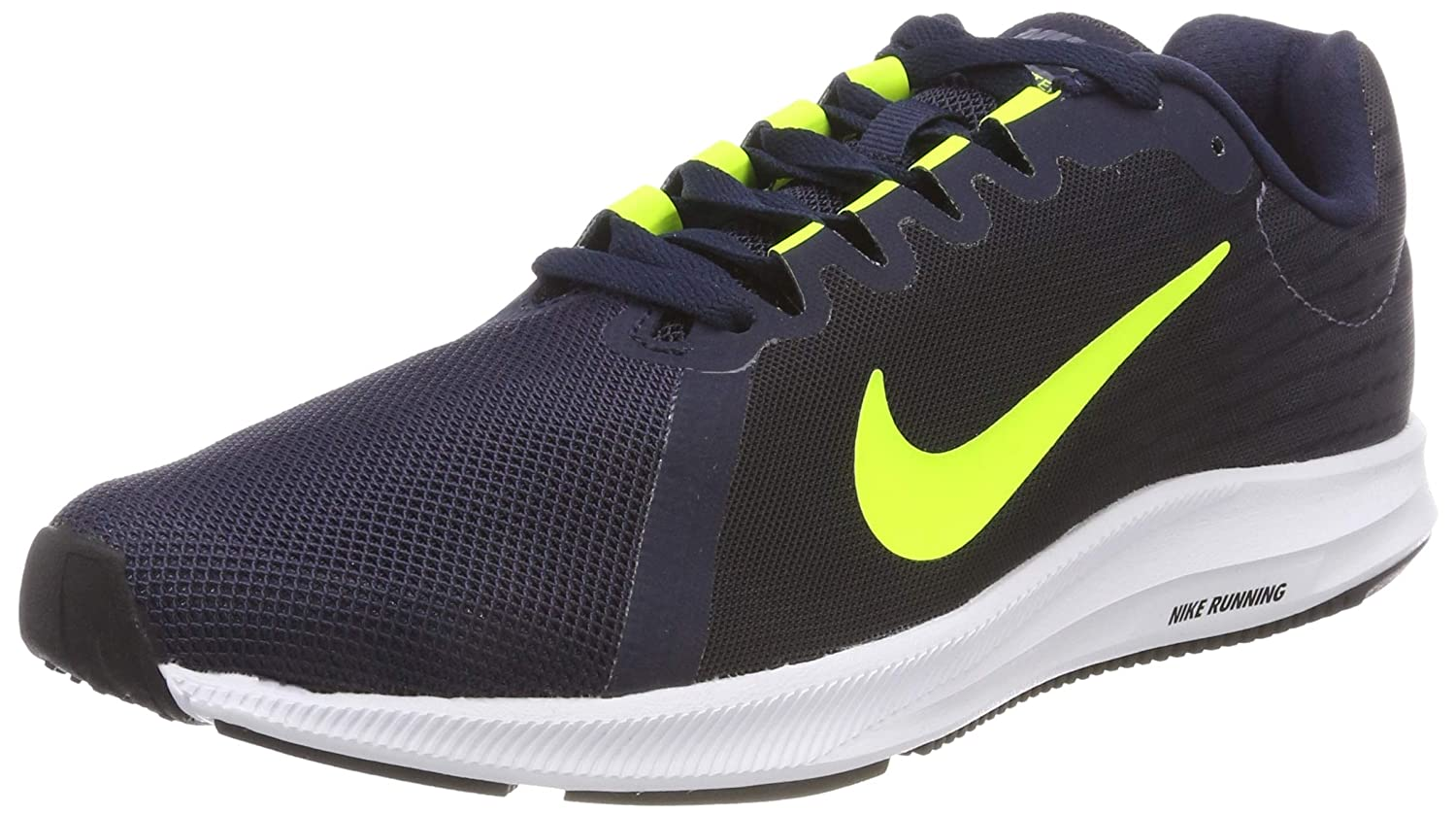 Nike Downshifter 8, Zapatillas de Running para Hombre 38.5 EU|Gris (Light Carbon/Volt-obsidian-black 007)