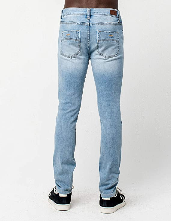 187c7bd5e3a Amazon.com: Rsq Seattle Light Blast Skinny Tapered Ripped Jeans: Clothing