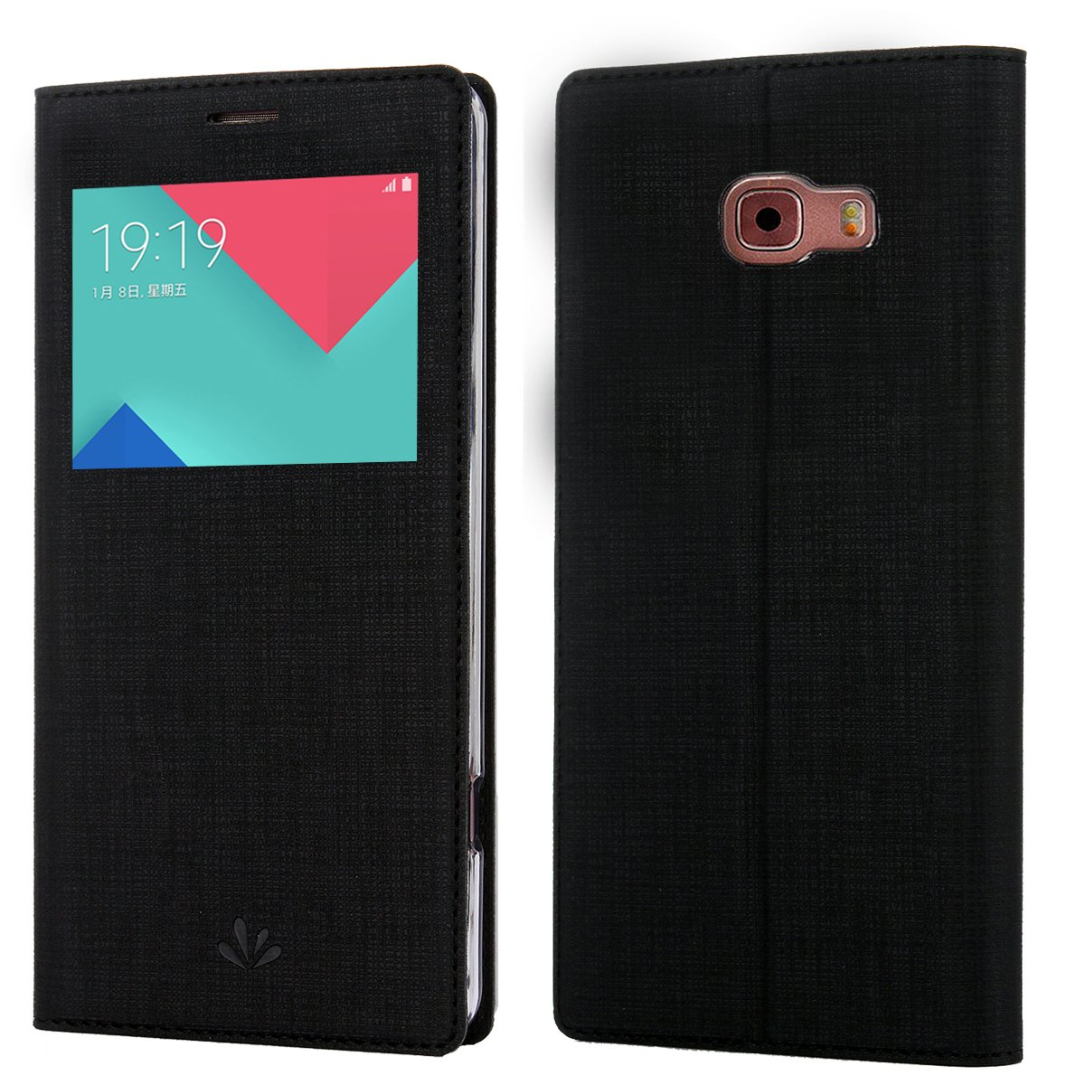 the best attitude bc667 f364a Samsung Galaxy A7(2016)/A710F Case, Premium Leather PU Flip Wallet Case  with View Window Stand Kickstand Card Holder Magnetic Closure TPU bumper  full ...