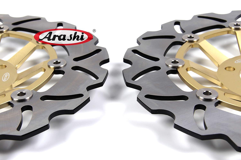 Arashi Front Rear Brake Disc Rotors for SUZUKI GSXR 600 2006 2007 Motorcycle Replacement Accessories GSX R600 R750 R1000 GSX-R 600 750 1000 Black 06 07
