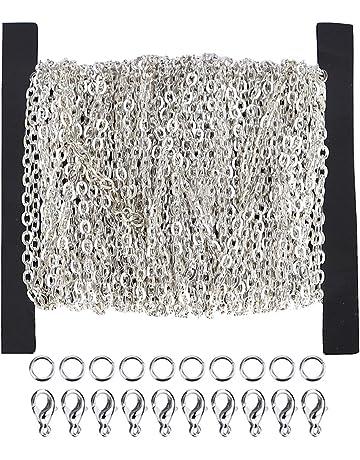 Ucatcher 39 pies collar de cadena del encintado Cable a granel de 2 mm de ancho