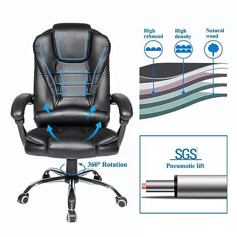 Amazon.com: Silla de oficina ejecutiva reclinable con ...