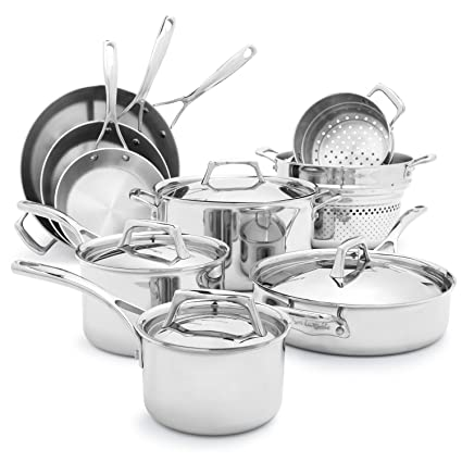 Amazon.com: Sur La Table Tri-Ply Stainless Steel 13-Piece Set 30758 ...