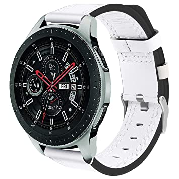Correa de Repuesto para Reloj Inteligente Samsung Gear S3 Frontier/Classic by/Galaxy Watch de 46 mm, Correa de Piel Mate: Amazon.es: Hogar