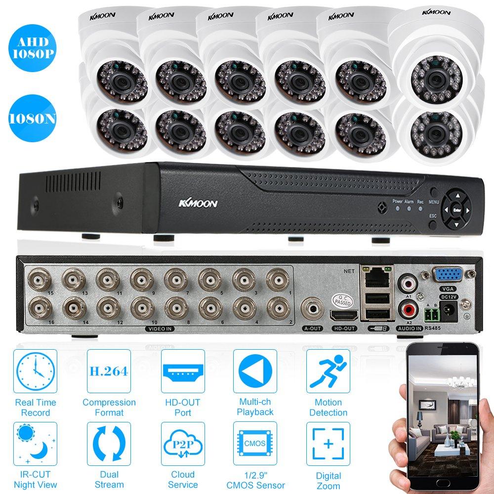 KKmoon 防犯カメラセット/ 16CHフル1080N 3-in-1機能 AHD DVR +