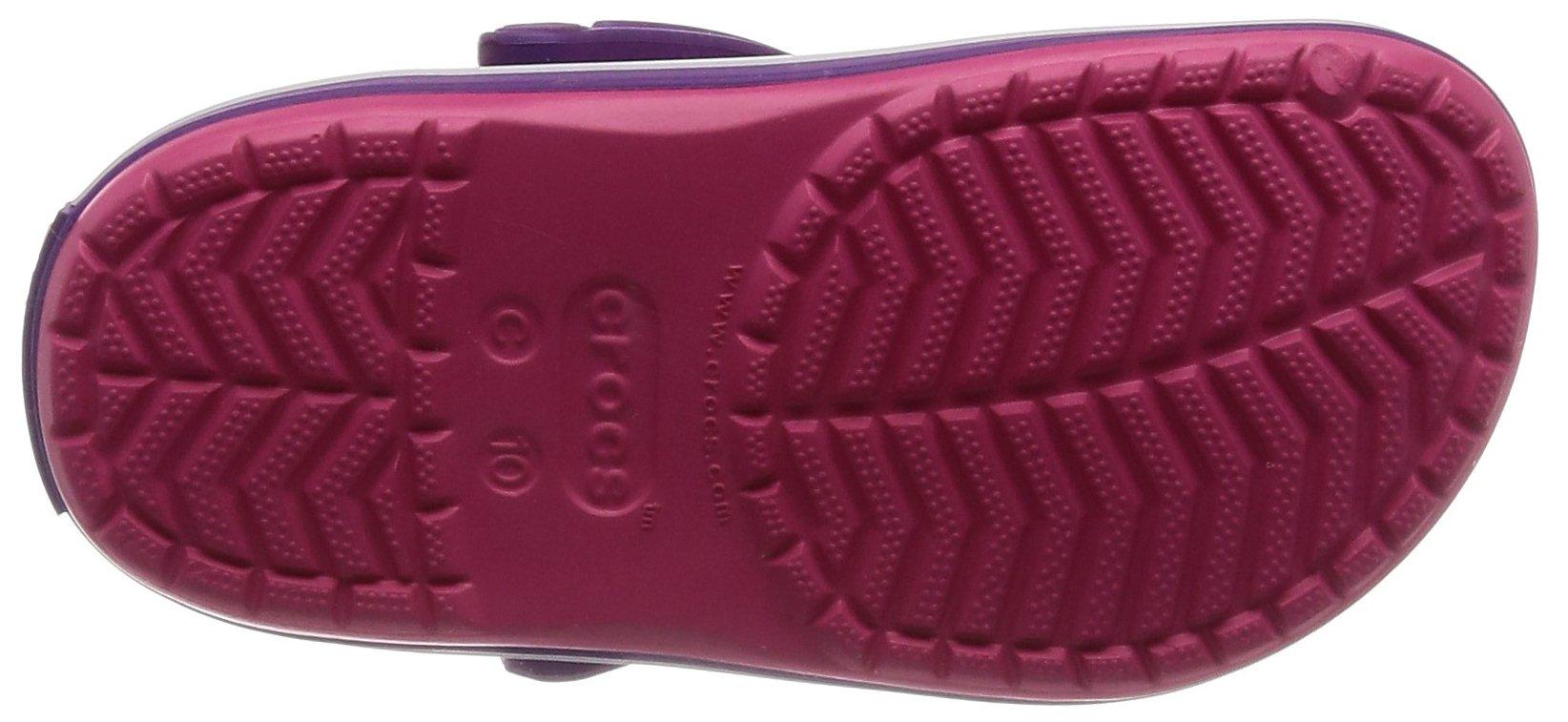 Crocs Kids' Crocband Clog, Paradise Pink/Amethyst, 1 M US Little by Crocs (Image #3)