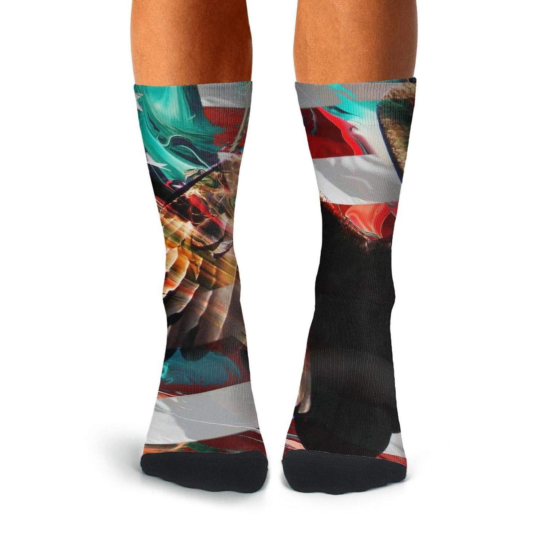 KCOSSH patriotic 4th of july american flag eagle Crazy Crew Sock Print Calf Socks for Men