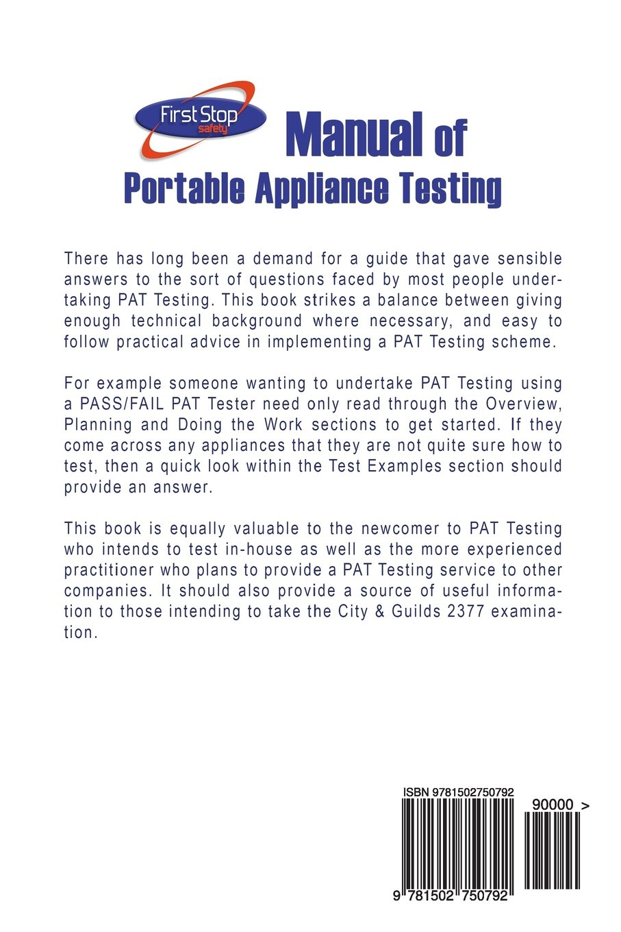Buy Manual of Portable Appliance Testing Book Online at Low