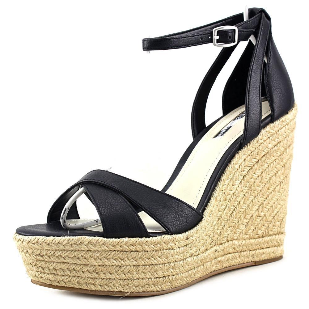 BCBGeneration Women's Holly Leather Ankle-High Leather Sandal B018I4RW3C 8.5 B(M) US|Black