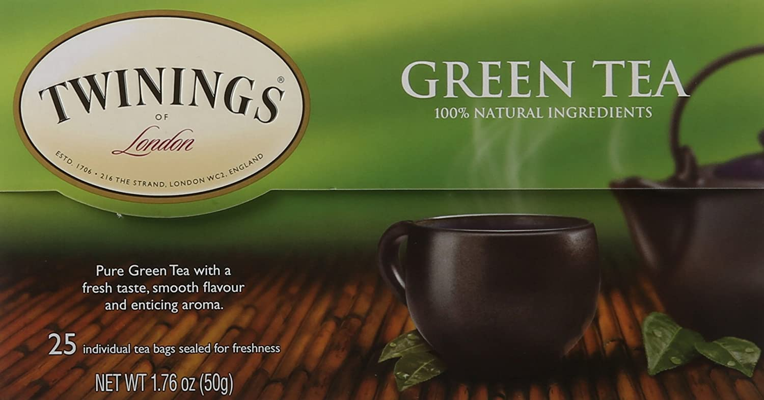 Twinings of London Pure Green Tea Bags, 25 Count