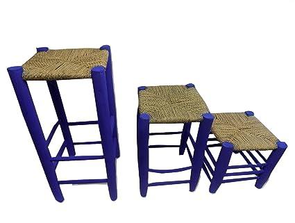Astonishing Amazon Com Set Of 3 Moroccan Garden Wooden Stools Kitchen Unemploymentrelief Wooden Chair Designs For Living Room Unemploymentrelieforg