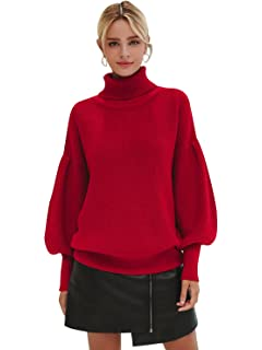 b359dcdd13 Simplee Women s Casual Long Sleeve Loose Pullover Knit Sweater Jumper Top