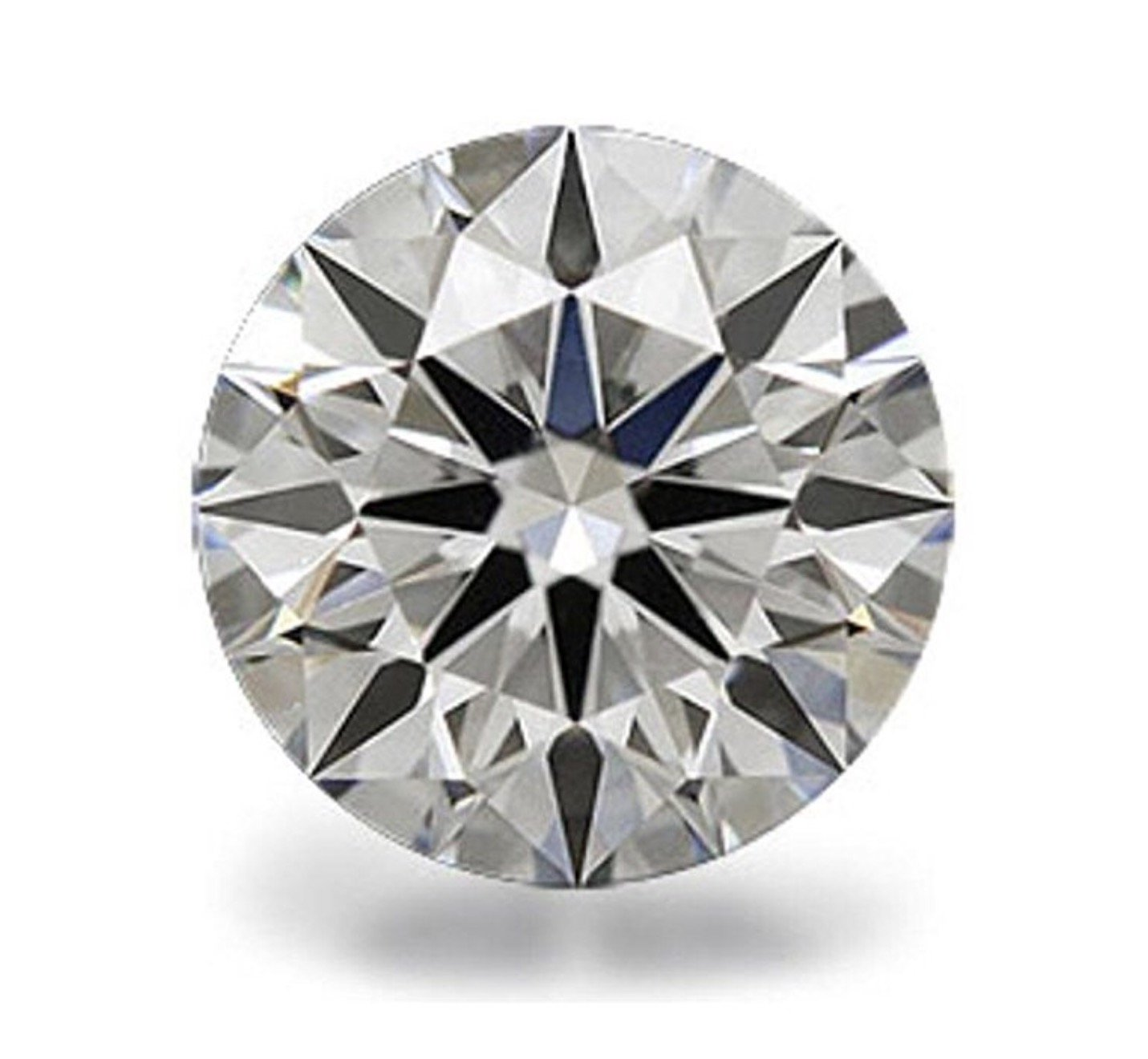 Venetia Top Grade Realistic Hearts and Arrows Cut Round Loose NSCD Simulated Diamond 1 2 3 4 Carats Different Sizes Super Sparkling White Fire (11mm, 4.5 Carats)