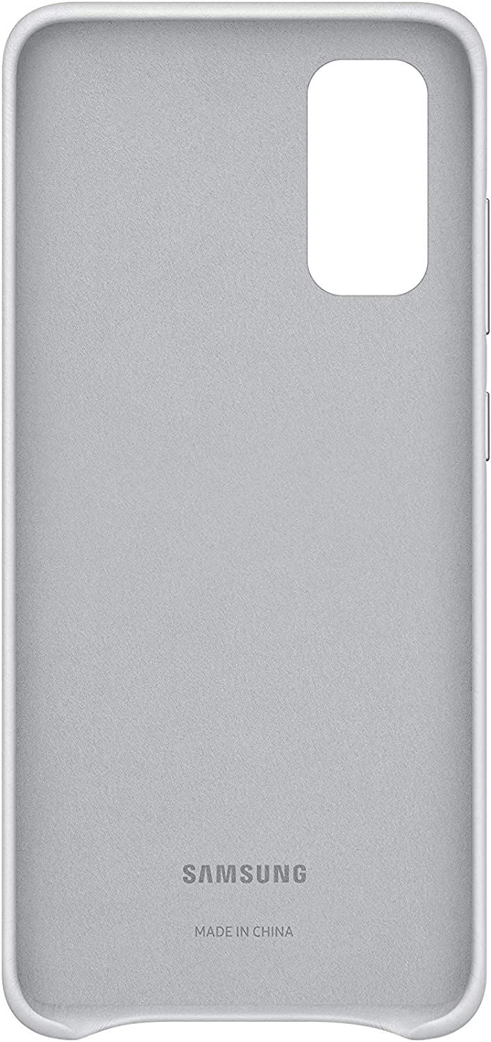 Samsung Leather Smartphone Cover Ef Vg980 For Galaxy S20 S20 5g Mobile Phone Case Genuine Leather Protective Case Shockproof Premium Light Grey Elektronik