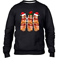 Christmas Jumpers for Men - Funny Pigs in Blankets Hat Jumper - Christmas Sweater