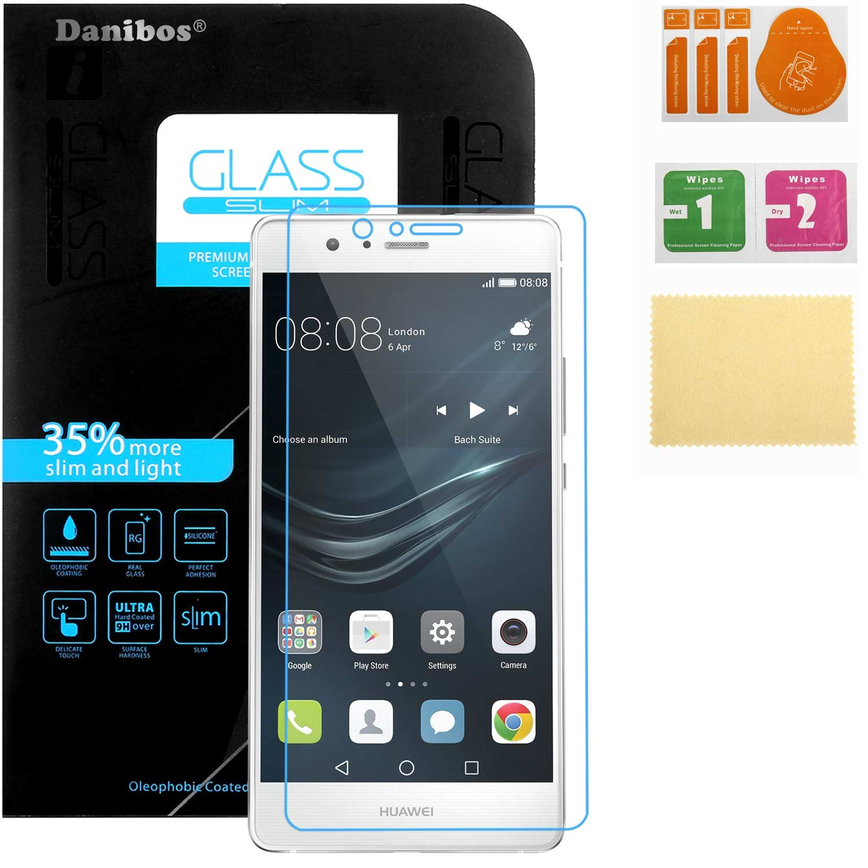 Huawei P9 Lite cristal protector, Danibos protector de vidrio templado Protector de pantalla para el vidrio a prueba de balas Huawei P9 Lite (Huawei P9 ...