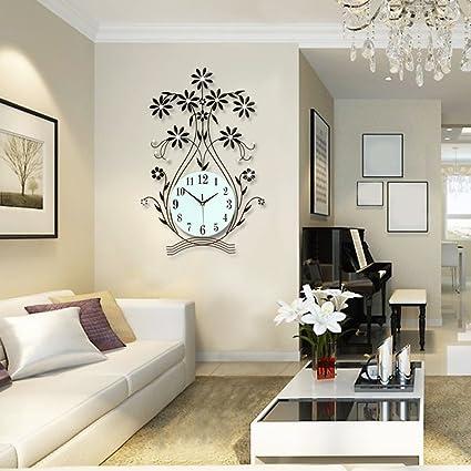 LQQGXL Orologio creativo, Orologio da parete soggiorno moderno ...