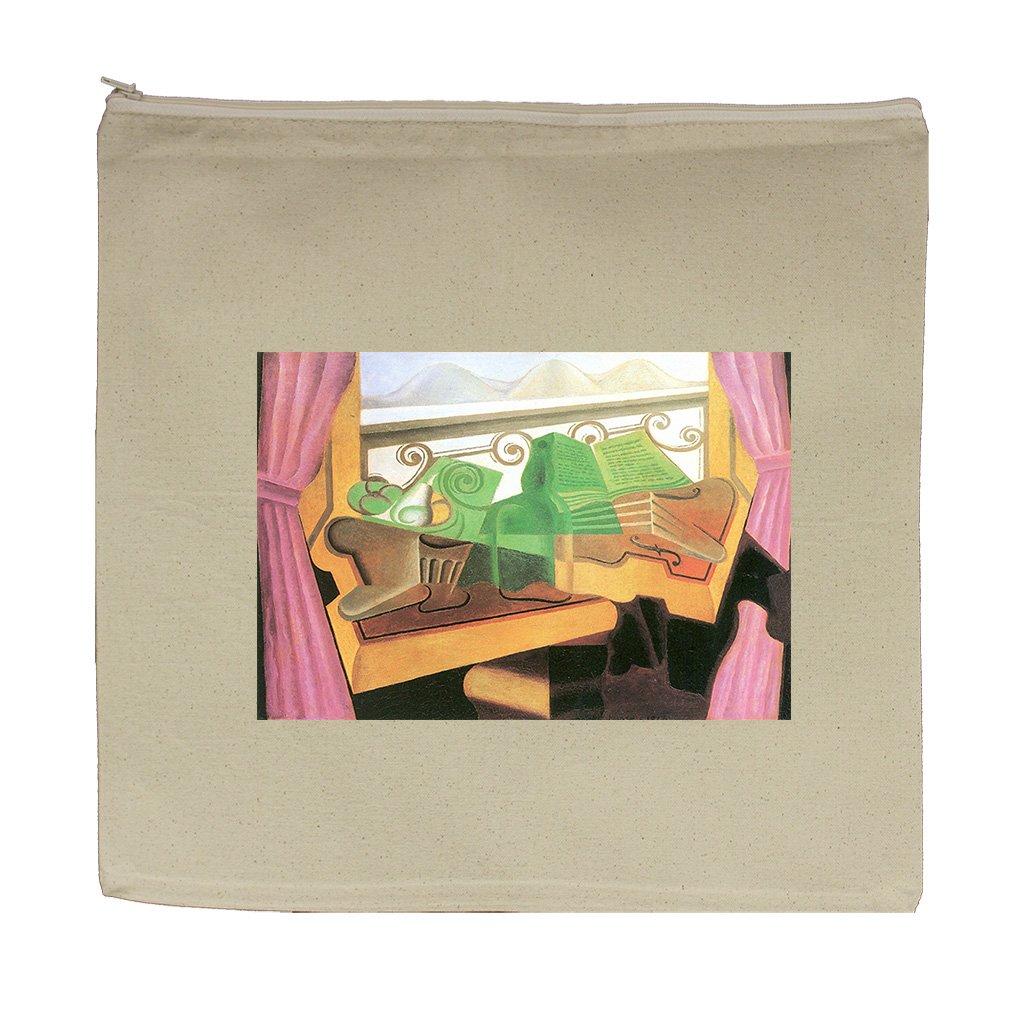 Open Windows With Hills (Juan Gris) Canvas Zipper Tote Bag Makeup Bag