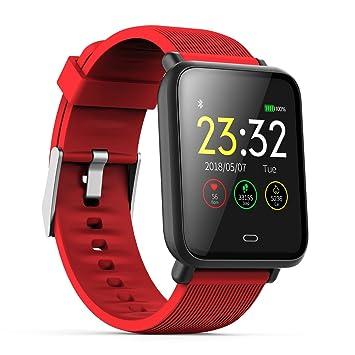 SODIAL Reloj Inteligente Q9 con Monitor de frecuencia Cardiaca Reloj de presion Arterial Reloj Inteligente Soporte Facebook Whatsapp para Hombres Mujeres, ...