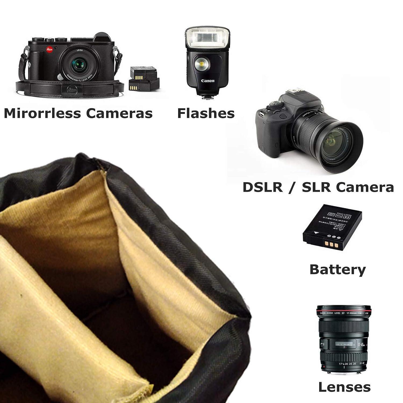 Amazon.com: G-raphy - Bolsa acolchada para cámara réflex ...