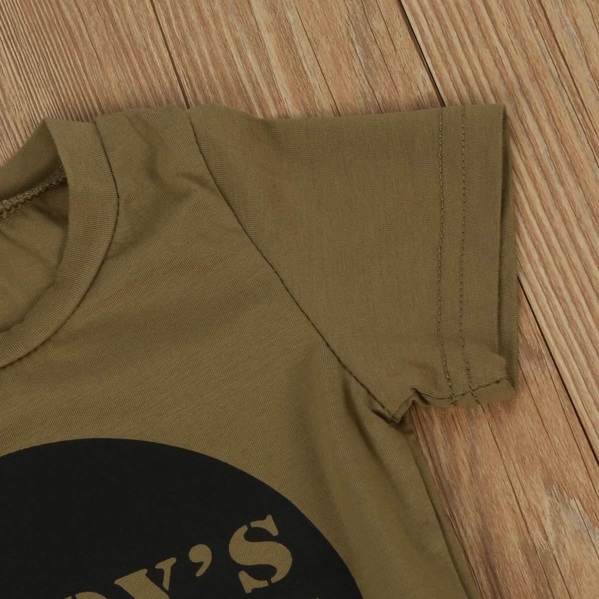 Conjunto de Ropa para Hermanos de Hermana Hermana Camisa de Manga Corta con Letra Trajes de Camuflaje