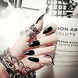 Biutee - Juego de 24 uñas postizas con doble cara adhesiva para manicura francesa