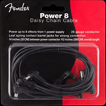 Fender 8 Cable Para Conexión En Cadena De Alimentación Para 9 V Guitarra Efecto Pedales: Amazon.es: Instrumentos musicales