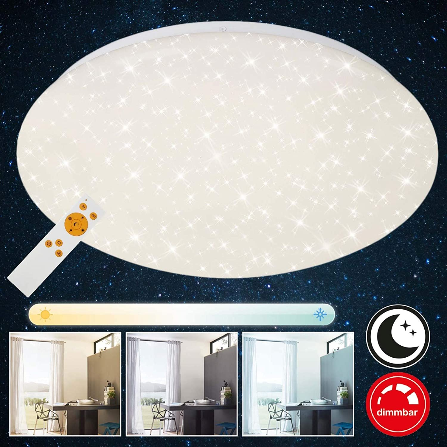 Briloner Leuchten Led Light With Remote Control Dimmable Ceiling