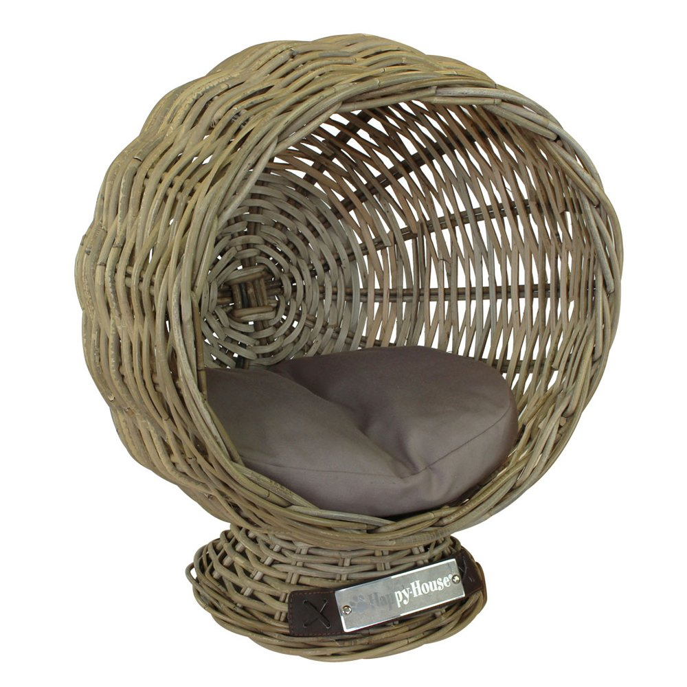 happy-house Rattan Globe Kissen