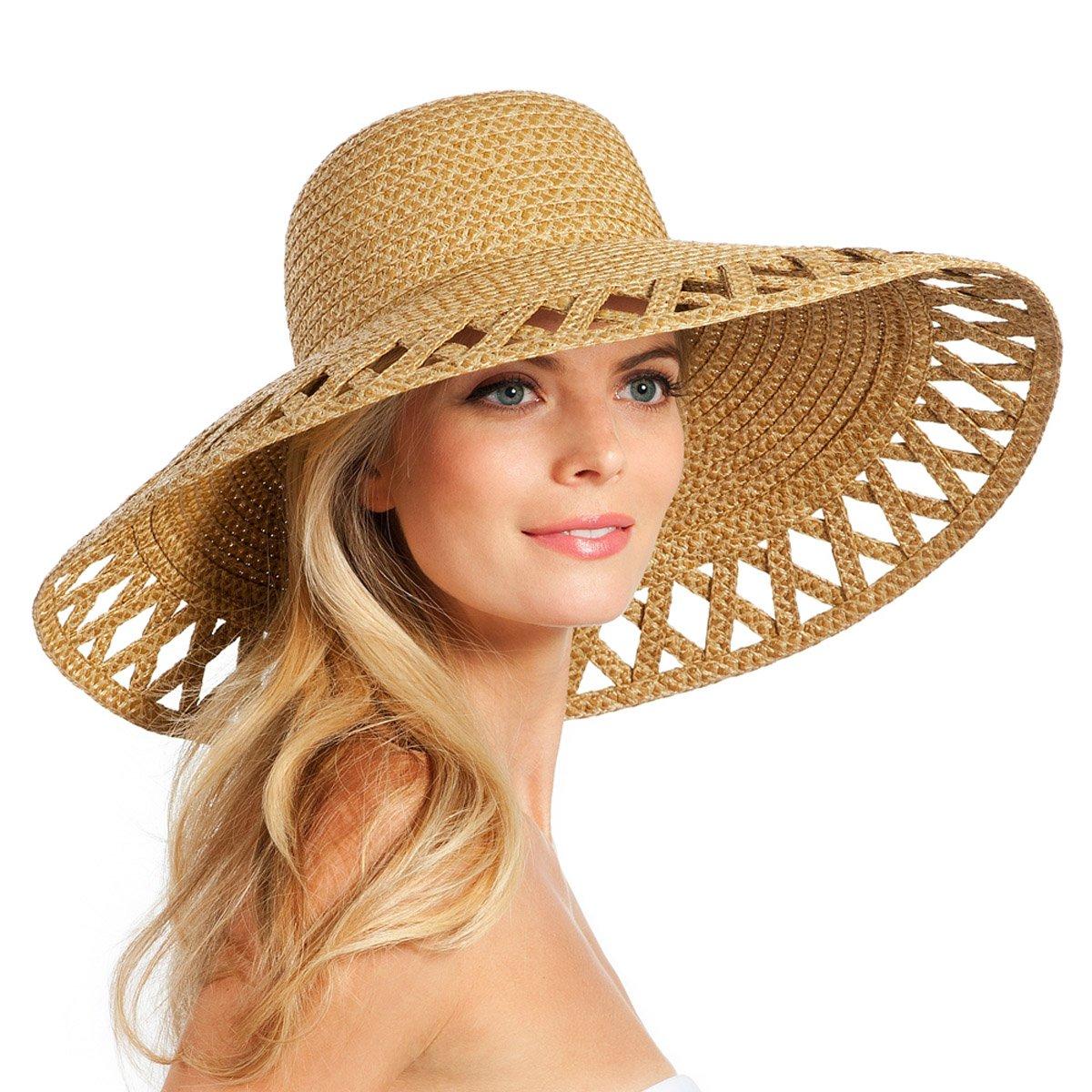 Eric Javits Luxury Fashion Designer Women's Headwear Hat - Maribel - Natural by Eric Javits