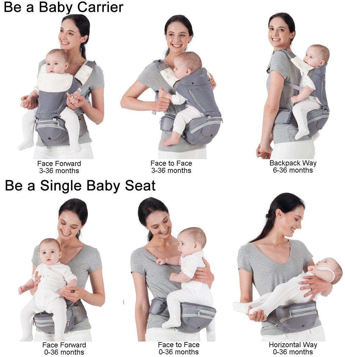 de26b2e14dd1 Bebear Porte-bébé Bebamour 6 en 1 classique avec port sur le devant ou dans  le dos 0-36 mois  Amazon.fr  Bébés   Puériculture