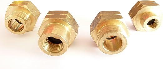 EURO-FLASCHEN-SET 4-teilig Gasflaschen-Anschluss-Set-Adapter-Übergangsstutzen
